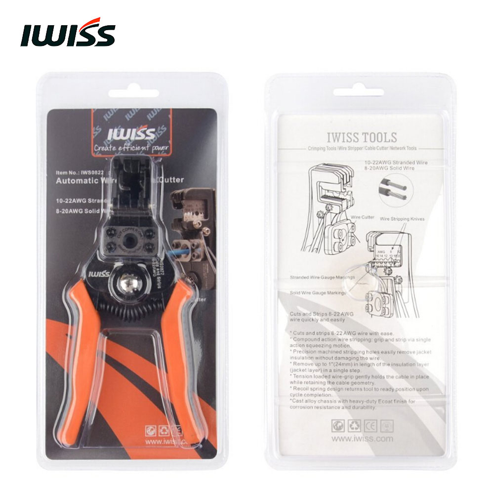 IWISS Wire Stripper and Cable Cutter Tool IWS 0822 -in Pliers from ...