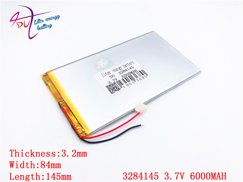 3.7v 6000mAH (polymer lithium ion battery) Li-ion battery for tablet pc 9.7 inch 10.1 inch speaker [3284145] 3085145 3 7v 8000mah sd 37125130 polymer lithium ion li ion battery for universal li ion battery for tablet pc 8 inch 9 inch 10 inch