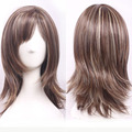 New Sexy BOB Style Women's Short Curly Hair Ladies Brown Blonde Mixed Natural Hair Full Wigs UK US Ombre Wig