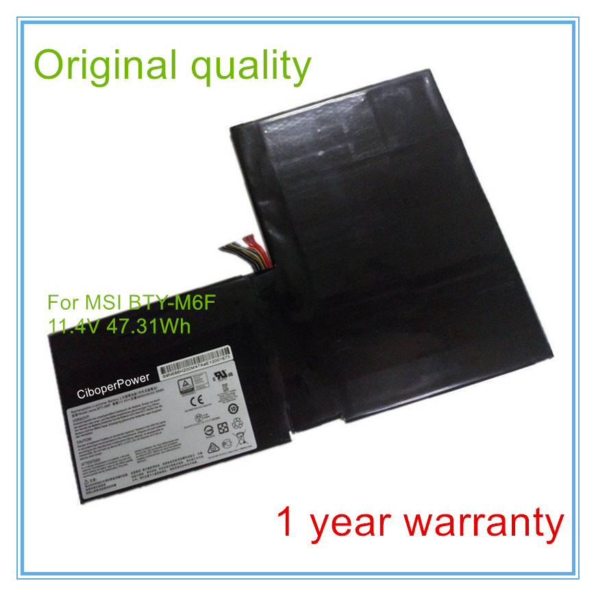 Original quality BTY-M6F laptop Battery For GS60 MS-16H2 2PL 6QE 2QE 2PE 2QC 2QD 6QC laptop keyboard for msi ge62 2qc 264xcn 2qc 648xcn 2qd 007xcn 2qd 059xcn 2qd 647xcn 2qe 052cn 2qe 053xcn 2qe 216xcn 2qf 255xcn