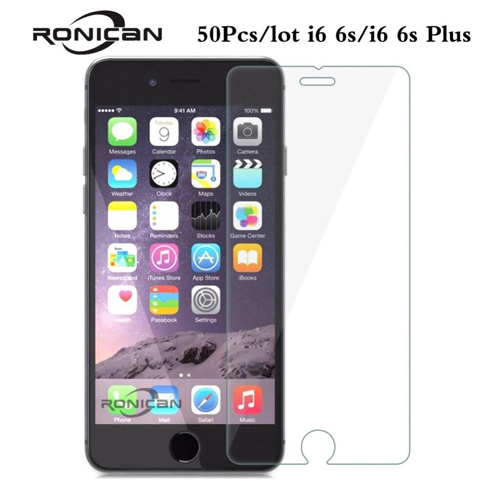"""imágenes para 50 unids/lote Para el iphone 6 6 s 4.7 """"2.5d 0.26mm Templado Superior de Cristal Protector de Pantalla para el iphone 6 más Endurecido película protectora"""