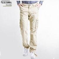 2017 Winter Fashion Cargo Hosen Casual Hosen Männer Marke Kleidung Khaki Männer Military Stil Casual Baumwolle Material Größe 29-40