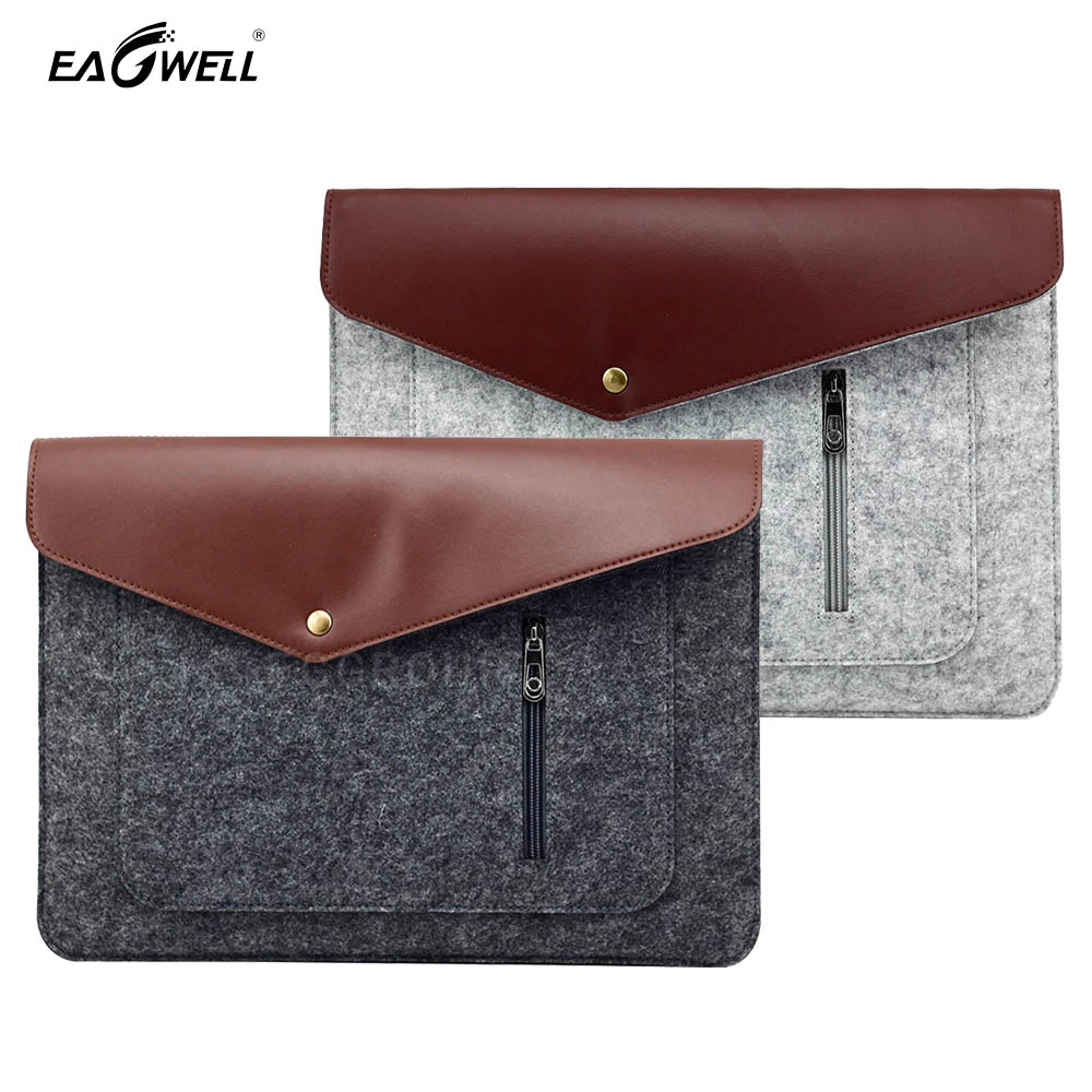 2016 Felt Laptop Bag For Apple Macbook Air 13 Pro 13 Retina Case Cover Skin for Mac Computer Notebook Wool felt Sleeve 13 inch image