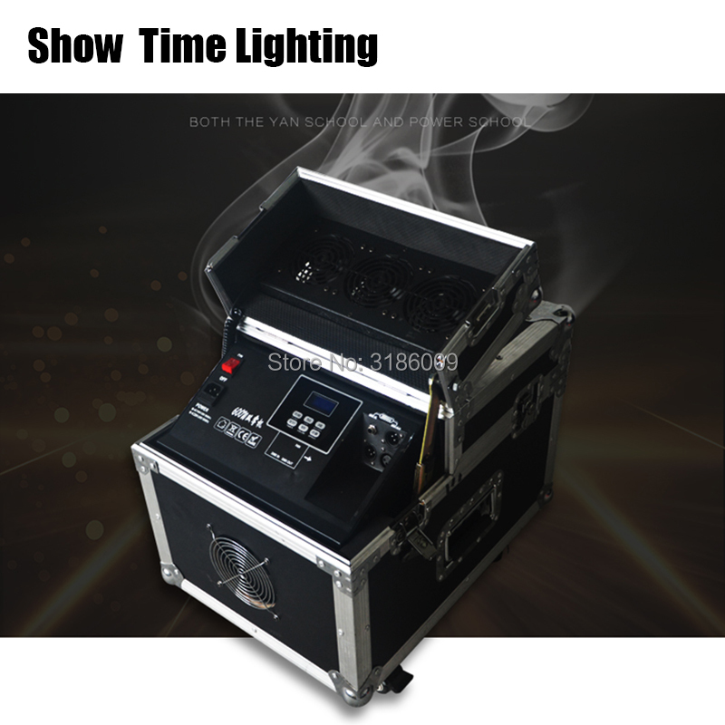 Good quality 600W Haze machine dmx control Fog <font><b>Hazer</b></font> Smoke machine with flight case for <font><b>stage</b></font> effect as Fairytale wonderland image