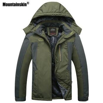 Mountainskin Men s Winter Fleece Thermal Jackets Outdoor Sports Windbreaker Hiking Trekking Camping Plus Size 9XL