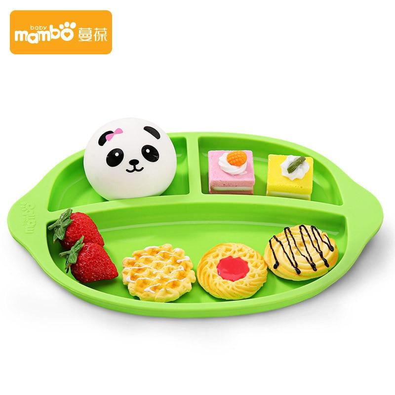 Mambobaby для малышей и детей постарше блюд всасывания чаша кормления детей пластины посуда крышкой обучение ребенка кормушки мультфильм пласт...