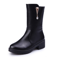 Female Martin Boots Thick Heel Platform Shoes Girls 2017 Autumn Winter British Style Sexy Boots Ankle