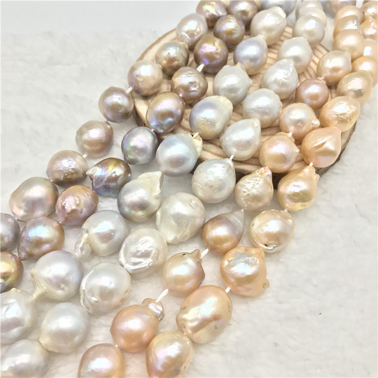 1 Strand 15 inch Pearl Loose Beads Big Cultured Natural Baroque Pearl for Jewelry Making and Jewelry Diy 16 inches 30 40mm aaa natural lavender fireball baroque pearl loose strand