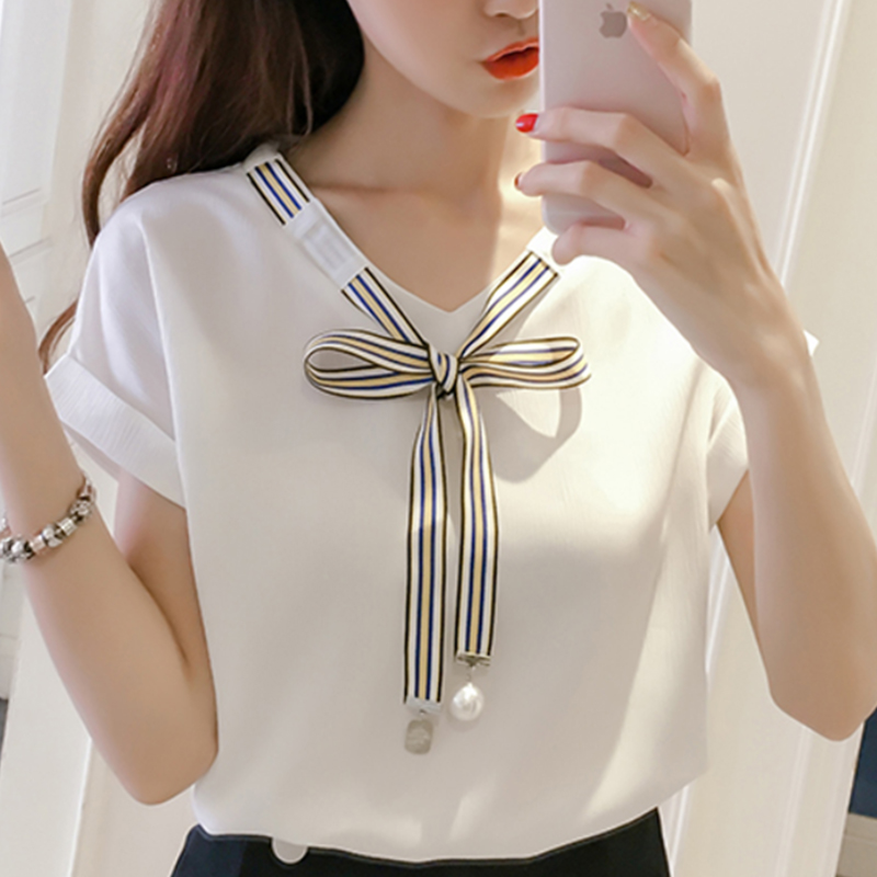 2019 Blouse Shirt Women's Korean Style Fashion Clothing ...