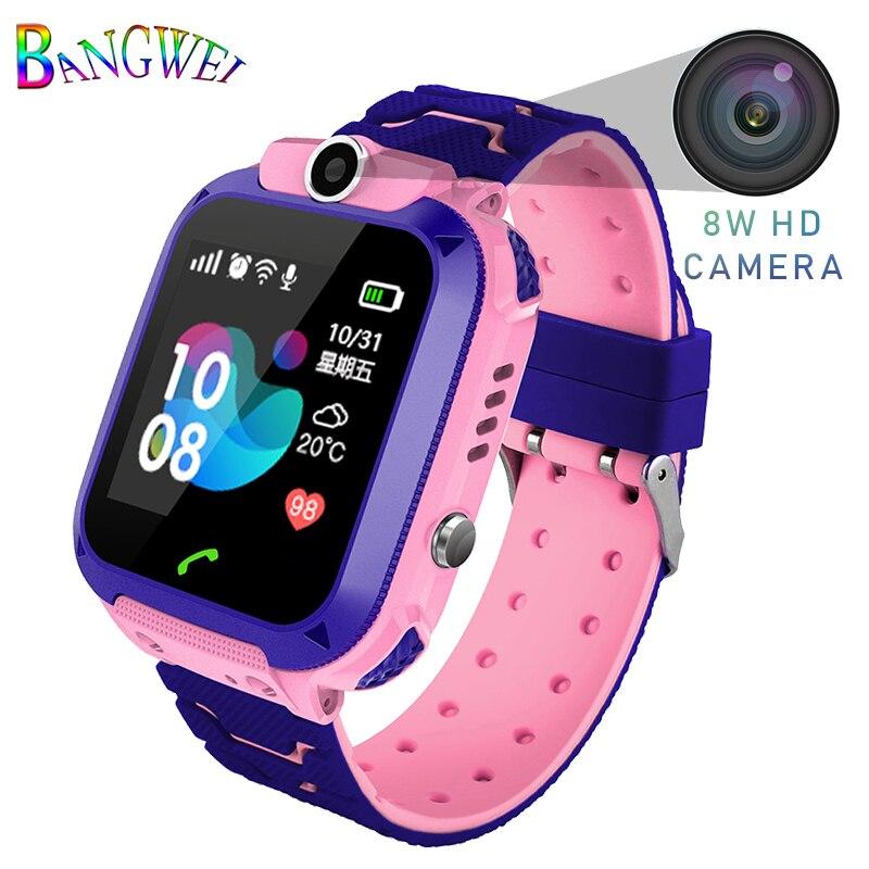 LIGE Criança Inteligente relógio Relógio Bebê Crianças SOS Chamada Smartwatches LBS Location Finder Localizador Rastreador Monitor Anti Perdido Kid Presente