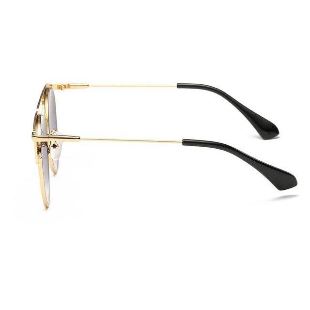 High Quality Cat Eye Sunglasses Women Brand Designer Pink Vintage Round Sun Glasses For Women Female Lady Sunglass Mirror Shades 4