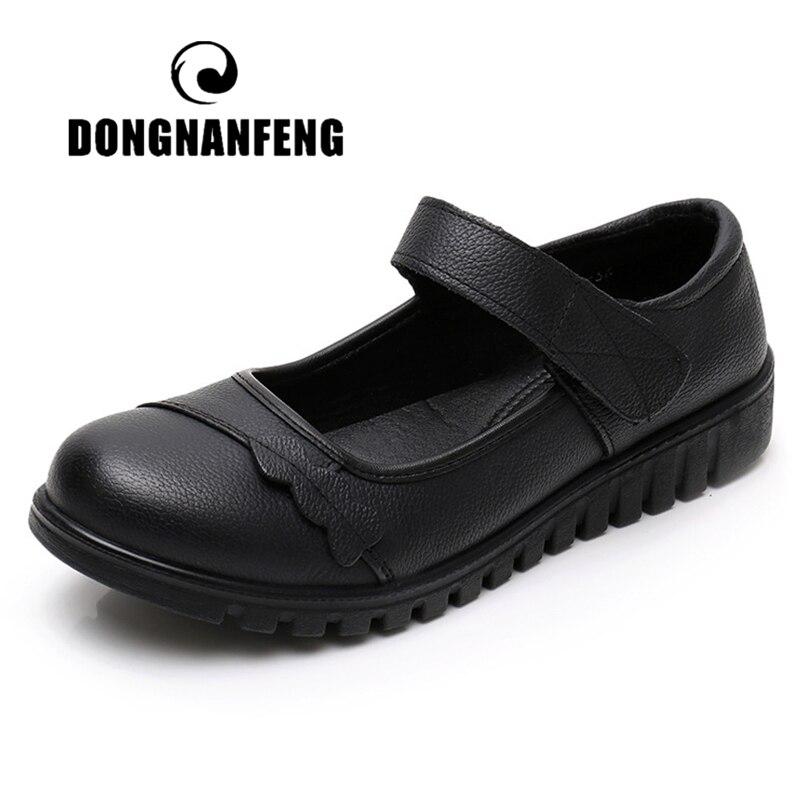 Женские сандалии DONGNANFENG, черные сандалии из натуральной коровьей кожи, для пляжа, на лето, Размеры 35-41, HLK-8266