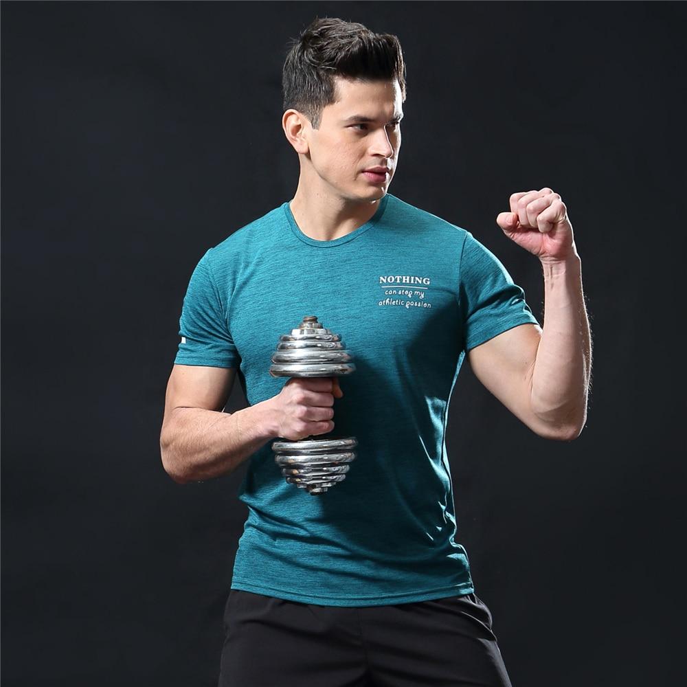 GANYANR Running T Shirt Men Basketball Tennis Sportswear Tee Sport Fitness Gym Jogging Tops Slim Fit quick dry Exercise Training 17