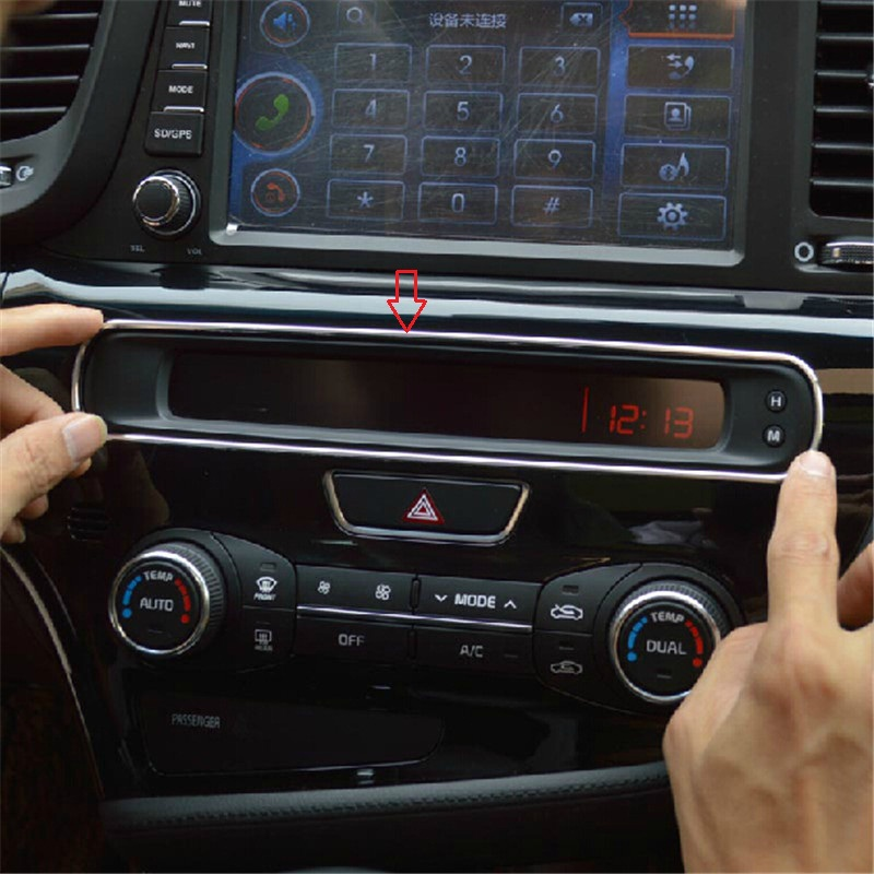 Car Interior Mouldings Accessories For Kia K5 Optima 2014 2015 Car Air  Conditioning Screen Decoration Frame Car Stying 1 Pc In Interior Mouldings  From ...