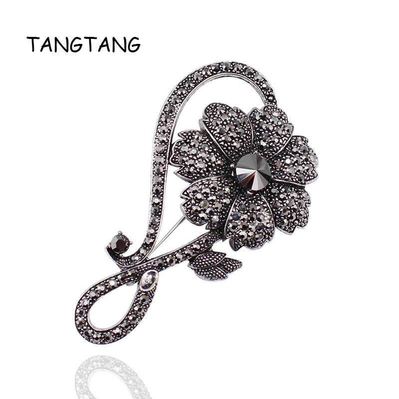 レトロクラシックラインストーンブローチピン結婚式花の宝石エレガントな気質ゴージャスなスカーフピン商品番号: BH8239