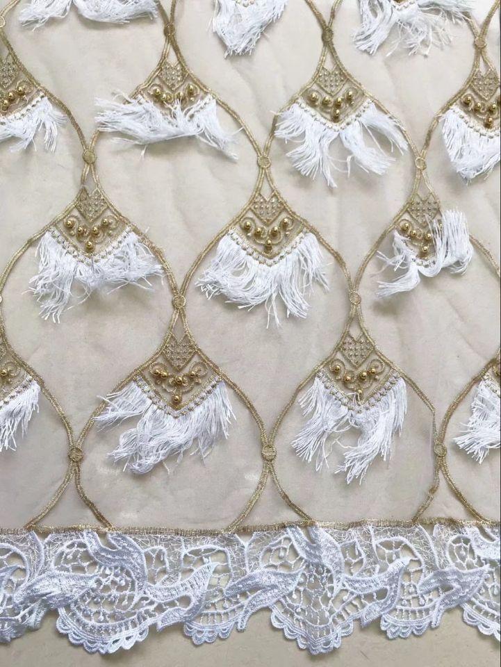2018 nouveau Design africain sec dentelle tissus haute qualité coton dentelle tissu suisse Voile avec perles suisse Voile dentelle en suisse-in Dentelle from Maison & Animalerie    2