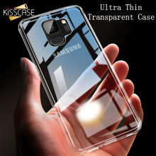 KISSCASE Phone Case For Samsung Galaxy A3 A5 A7 S6 S7 Edge S8 S9 Plus Note 8 9 Clear Soft Silicone Shockproof Protective Capinha