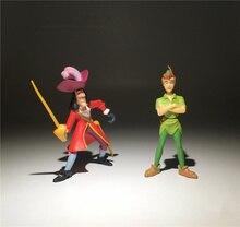 2 pezzi/lotto 9 centimetri Martinetti e la neverland pirata Neverland Del Peter Pan Action figure toys Collection giocattolo