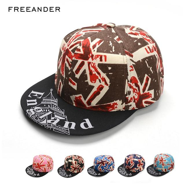 373c7d86f25 Freeander Mens Snapback Hats British Flag Printing Flat-brimmed Hip Hop  Fitted Cap Hats Baseball Cap With Scuba Diver For Man