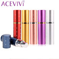 ACEVIVI 1Pcs Mini Portable Spray Bottle Empty Perfume Bottles Colorful 5ml Refillable Perfume Atomizer Travel Accessories