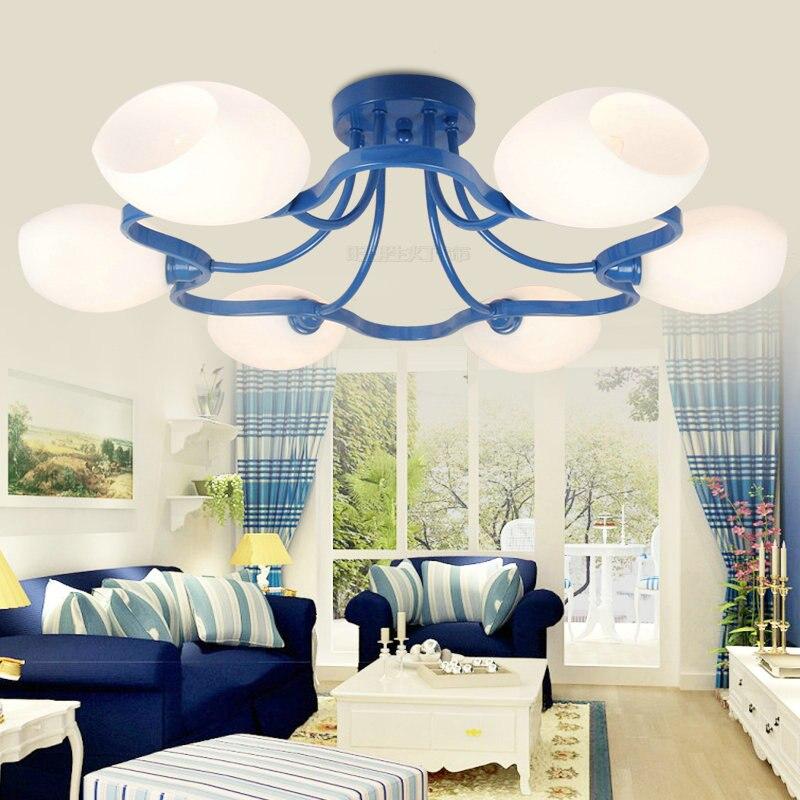 European Style Ceiling Living Room Lighting Lamps Modern Minimalist Led Plum Blossom Lamp Mediterranean