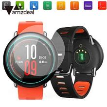Amzdeal Premium Clear 9H Tempered Glass Screen Protectors Film For Amazfit Smart Watch Accessories