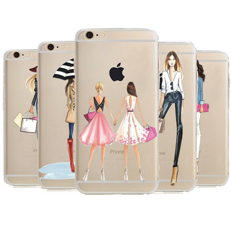 Phone Case For iPhone 6 S Cover Transparent TPU Fashion ...