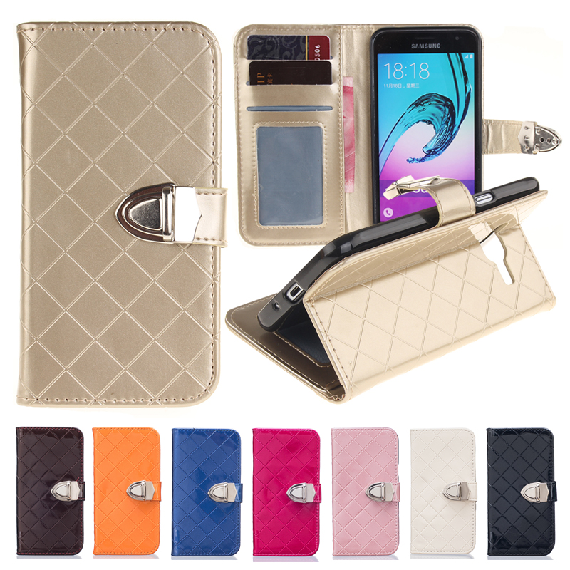 buy gold leather wallet for coque samsung galaxy j3 2016 case silicon flip. Black Bedroom Furniture Sets. Home Design Ideas