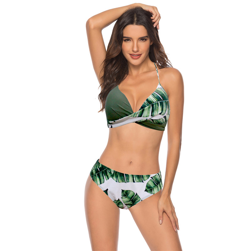 2019 femmes Sexy Bikini ensemble Push Up femme maillot de bain maillots de bain nager séparé deux pièces brésilien maillot de bain grande taille XXXL