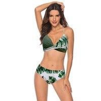 2020 femmes Sexy Bikini ensemble Push Up femme maillot de bain maillots de bain nager séparé deux pièces brésilien maillot de bain grande grande taille XXXL