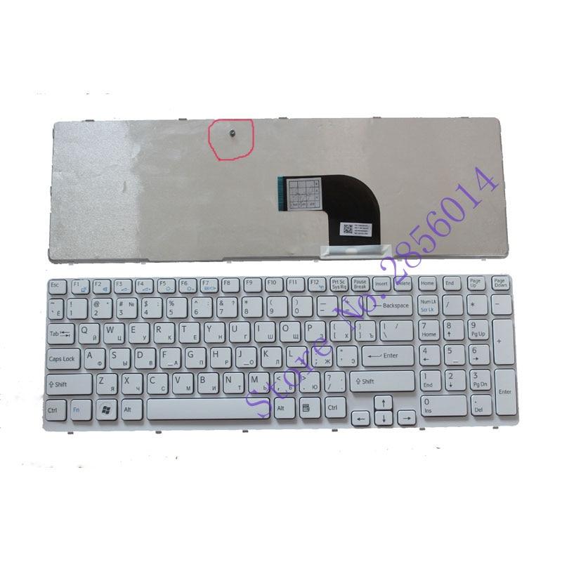 Russian RU Keyboard For Sony VAIO SVE15 SVE 15 White Keyboard 149032851RU AEHK57002303A MP-11K73SU-920 With Frame