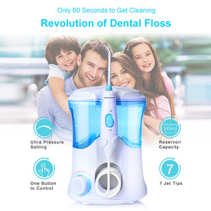 Image 2 - TINTON LIFE FC 169 FDA Water Flosser With 7 Tips Electric Oral Irrigator Dental Flosser 600ml Capacity Oral Hygiene For Family