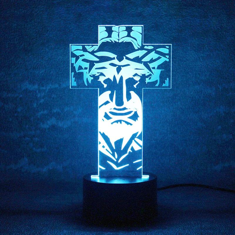 3D USB LED визуальный ночник настроение настольная лампа творческий Спальня постели спать Освещение крест лампы для детей Подарки Домашний Дек...