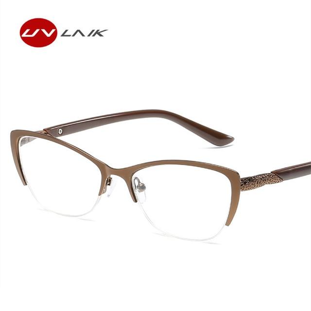 29f7082cc1 UVLAIK Women Cat Eye Reading Glasses Fashion Optical Eyeglasses Female  Reading Anti-Fatigue Glasses High