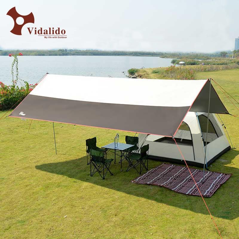 200D PU W R oxford waterproof iron pole silver coated tarp gazebo sun shade tent awning