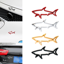 3D Stereo Metal Animal Shark Car Sticker 7.6*3.6cm Auto Motorcycle Decoration Emblem Decals Electroplate Stickers
