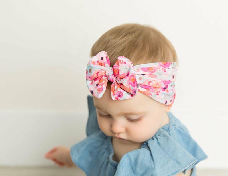 Headwrap  Newborn Girl Turban Baby Elastic Headband  Nylon Hairband Headwear