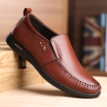 DESAI Brand New Shoes Men Cow Leather Casual Shoes Soft Bottom Breathable Shoes Round Toe Loafers Size 38-44 desai brand luxury brown men genuine leather casual shoes quality soft loafers comfortable shoes for men size 38 43