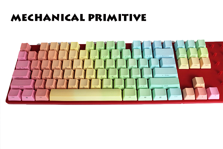 MP 108 keys Rainbow Gradient Cherry MX switch PBT Keycap Radium valture Side-printed Keycap for wired USB Mechanical Keyboard mp 104 87 keys red gradient cherry mx switch pbt keycaps radium valture side printed keycap for mechanical gaming keyboard