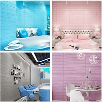 Hot 3D Wood Grain Design Wall Stickers Simple Pure Wood Like Sound Insulation Tinting PVC Wallpaper