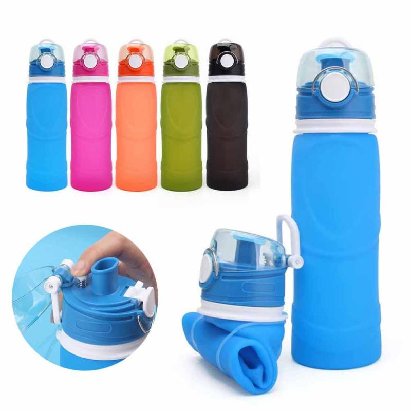 750ml Foldable Water Bottle Creative Silicone Outdoors Traveling Sport Cycling Drinkware Leakproof Water Bottle Kettle #4