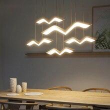 Treo Deco DIY LED Hiện Đại Mặt Dây Chuyền Đèn Cho Phòng Ăn Phòng Bếp Thanh Treo Đèn Suspendu Mặt Dây Chuyền Bóng Đèn
