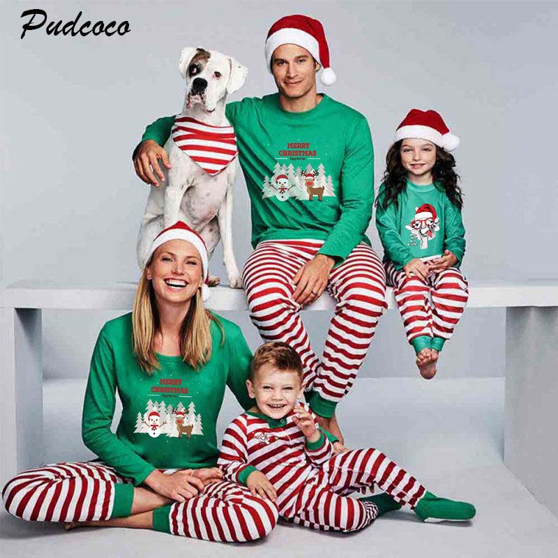 Family Matching Christmas Holiday Pajama Sets PJs Pyjamas Sleepwear for Mom Dad Kids Xmas Gifts