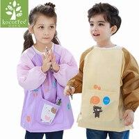 방수 anti-wear 앞치마 그림 그리기 코트 어린이 의상 공예에 대 한 diy 페인트 antifouling 앞치마 유치원