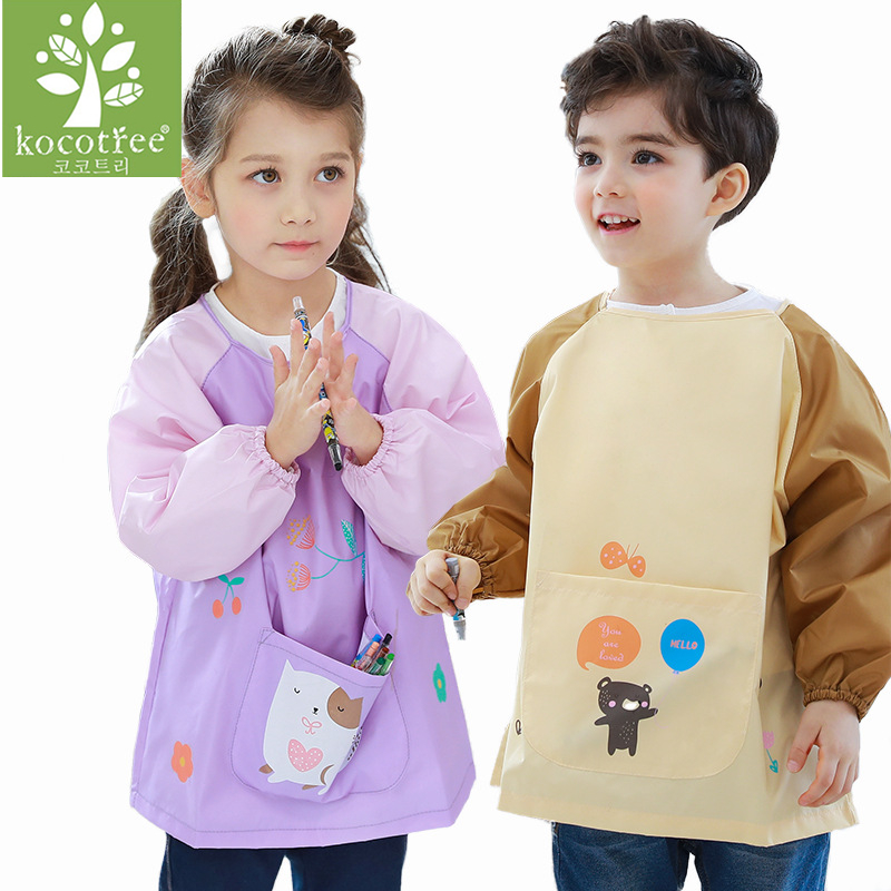 Waterproof Anti-Wear Apron Painting Drawing Coat for Children Costume Crafts DIY Paint antifouling aprons for kids Kindergarten