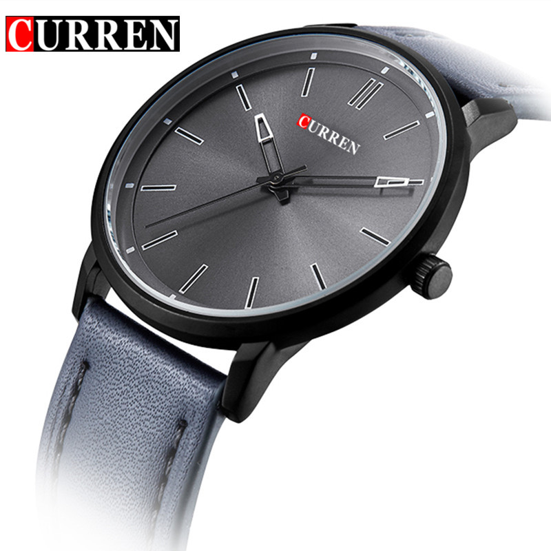 New Curren Men's Watches Men Famous Brand Quartz Watch Male Leather Strap Casual Sport Wrist Watch Analog Display Military Clock genuine curren brand design leather military men cool fashion clock sport male gift wrist quartz business water resistant watch