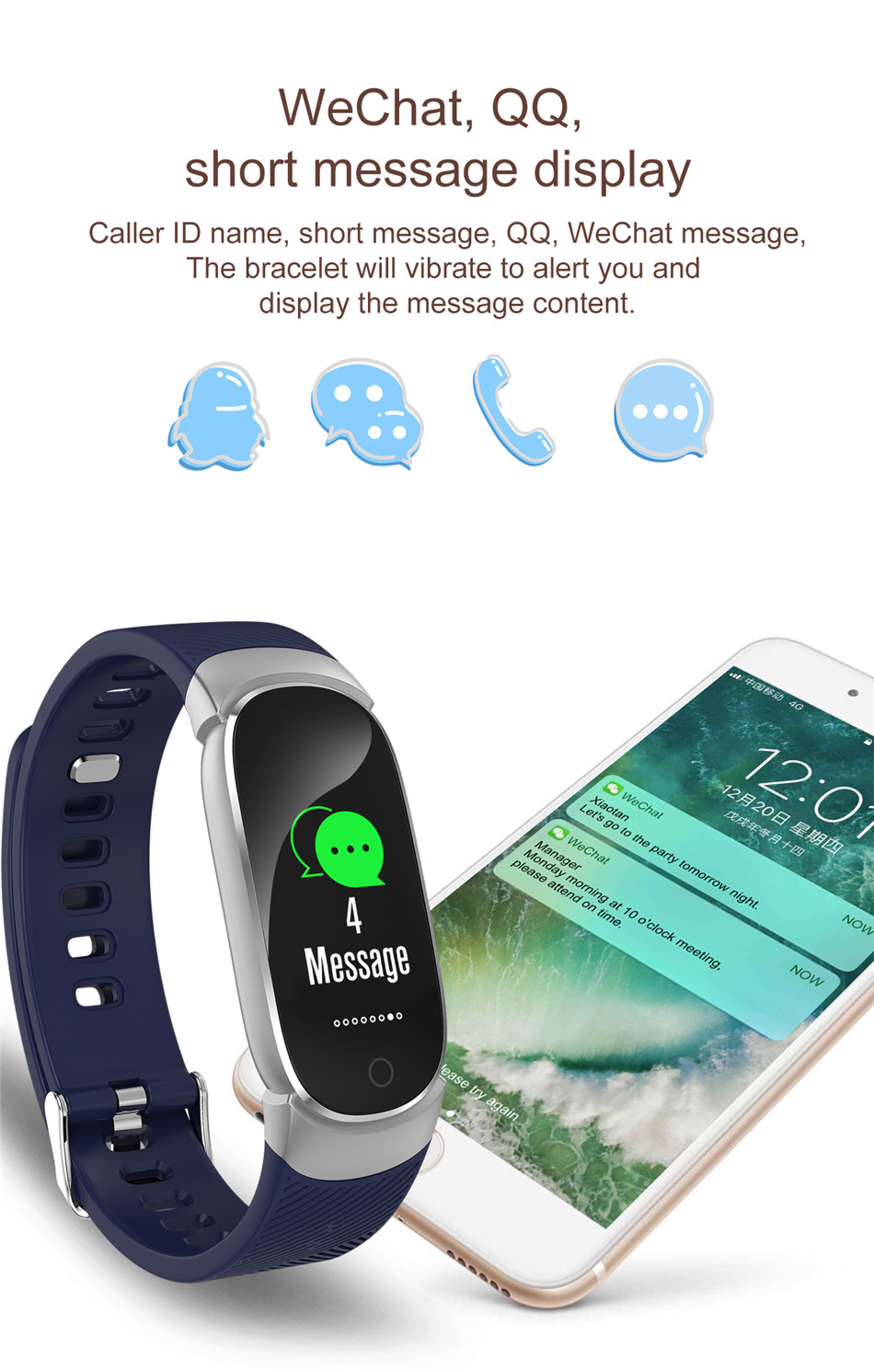 BANGWEI Women Sport Smart Watch Men LED Waterproof SmartWatch Heart Rate Blood Pressure Pedometer Watch Clock For Android iOS 8