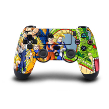 Stickers PS4 Controller Skin Dragon Ball Sun Goku Sticker Full Cover for Sony Play Station 4 Wireless Controller PS4 Accessory