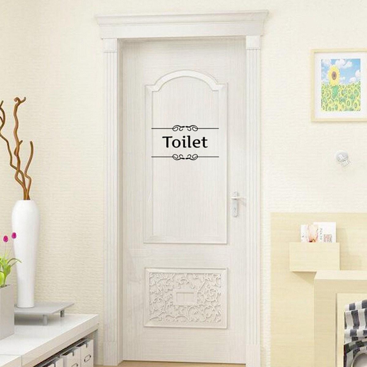 Cute Removable Bathroom Font B