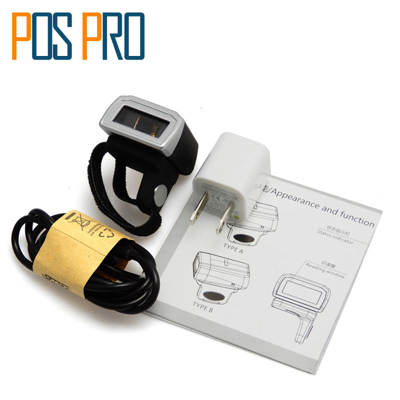 IPBS043 Weirless laser mini bluetooth barcode Reader Portable Ring Barcode Scanner 1D/2D/QR/PDF417 codes Reader